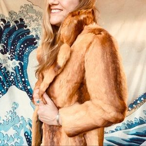 Stunning Vintage golden rabbit fur coat. 4-6